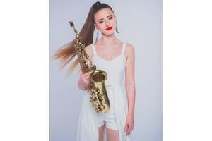 Саксофонистка Киев.Живая музыка.Саксофонист