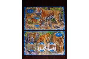 Красивые марки фауна Тигры Львы