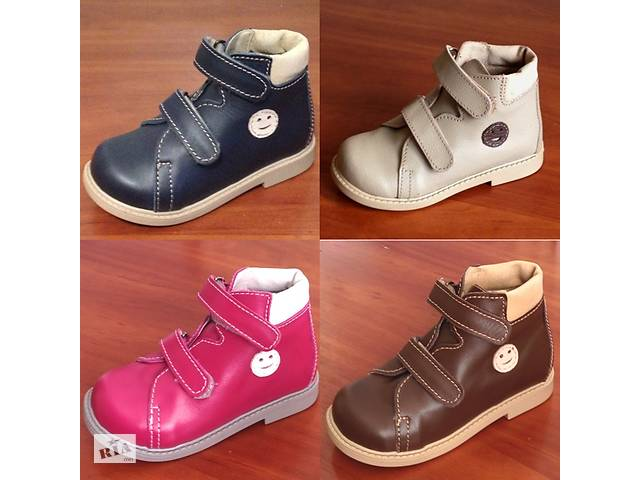 продам Ортопедические ботинки Осенние Кожанные бу в Сумах