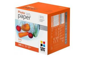 Бумага ColorWay 10x15, 220г, matte, 500л (PM2205004R)
