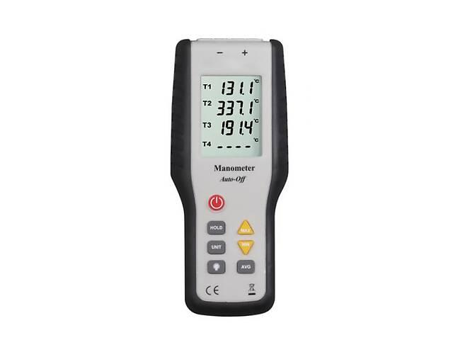 купить бу Четырёхканальный термометр Kronos Xintest HT-9815 (от -200 до +1372 °C) с термопарой К-типа (mdr_2685) в Киеве