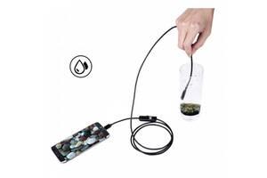 Камера ендоскоп з кабелем на 2 метри 7 мм USB/micro USB з підсвічуванням