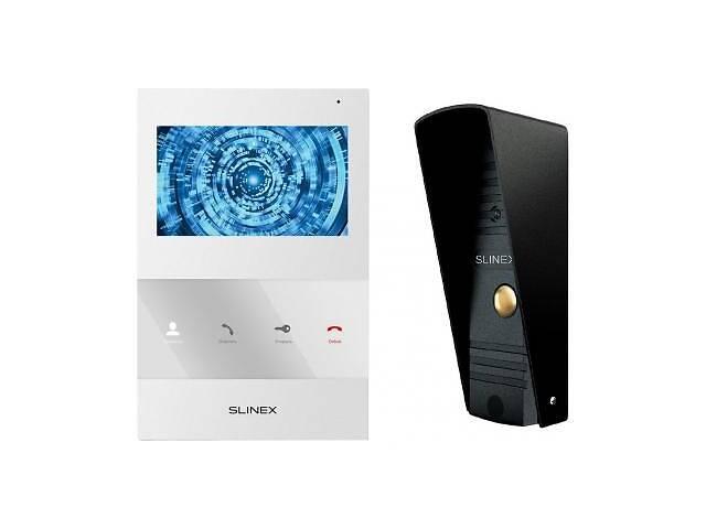 купить бу Комплект видеодомофона Slinex SQ-04M_W+ML-16HR_B в Киеве