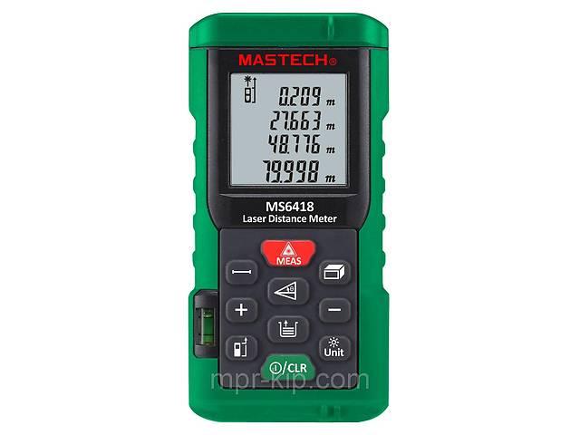 купить бу Лазерный дальномер ( лазерная рулетка ) Mastech MS6418 (0,046-80 м) проводит измерения V, S, H, память 99 в Львове
