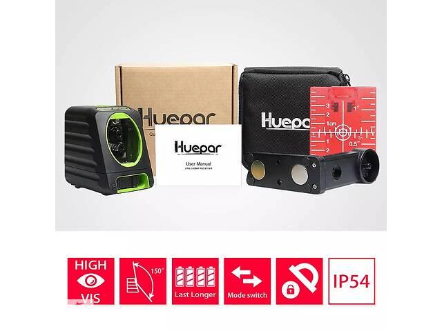бу Лазерный уровень Huepar BOX-1R нивелир 2 красные линии + кронштейн и батарейки в Луцке