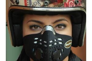 Лучшая защитная маска Respro от выхлопных газов и смога под шлем для мотоциклистов и велосипедистов.
