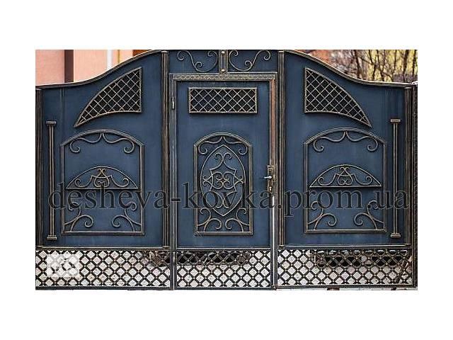 купить бу Металлические распашные въездные ворота с калиткой в Виннице