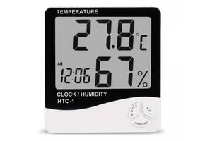 Метеостанция Часы Гигрометр Влагомер HTC-1 (44341-IM)