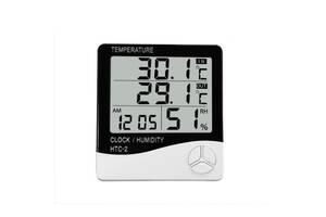 Метеостанция, Часы, Гигрометр, Влагометр Generic HTC-2 и выносной датчик (44412-IM)