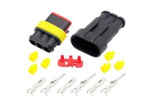 Разъем автомобильный электрический герметичный DJ7031-1.5 комплект 3pin