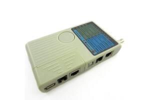 Тестер кабельный RJ-45/RJ-12/RJ-11/BNC/USB Merlion (NT-T040)