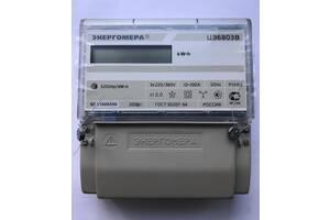 Трехфазные счетчики электроэнергии ЦЭ6803В 10-100А ЭР30 (ЖКИ, новые, в упаковке)
