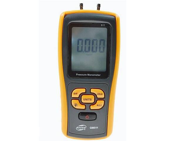 купить бу Цифровой дифференциальный манометр Benetech GM511 (0.01/10 кПа) USB интерфейс МАХ давление 50 кПа АТС (mdr_5280) в Киеве