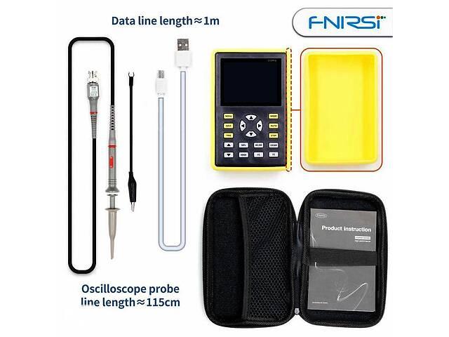 купить бу Цифровой портативный осциллограф FNIRSI-5012H 100МГц со щупом P6100 в Киеве