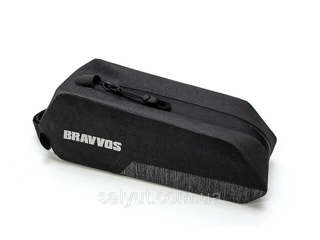 купить бу Велосумка на верхнюю трубу рамы 24.5x8x7cm черный BRAVVOS QL-502 водоотталк. материал в Киеве