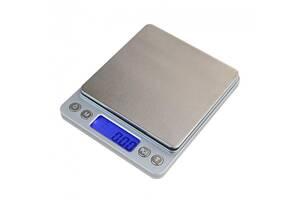 Весы ювелирные электронные карманные 0,01-500 гр с 2-мя чашами портативные маленькие миллиграммовые мини весы