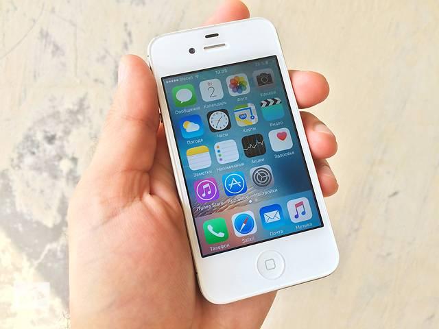 продам iPhone 4S 32GB White Neverlock отличное состояние! бу в Каменском (Днепропетровской обл.) (Днепродзержинск)