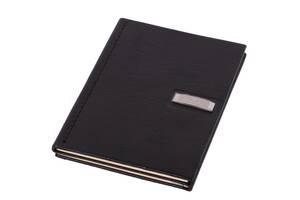 Блокнот кожаный Vip Collection 154 Platinum Черный