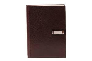 Блокнот кожаный Vip Collection 154 Platinum Коричневый