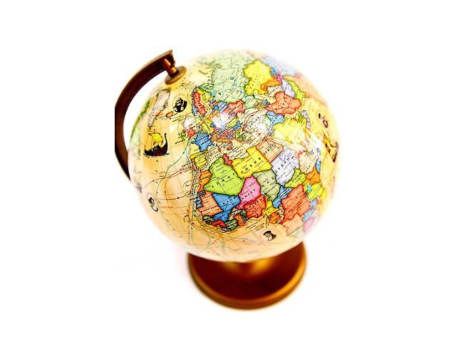 Глобус настольный 220 мм маршрутами землепроходцами в картонной коробке  рус BST 540083- объявление о продаже  в Одессе