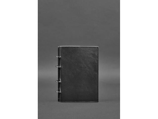 продам Кожаный блокнот на кольцах  9.0 с твердой черной обложкой BlnkntBN-SB-9-hard-g бу в Киеве