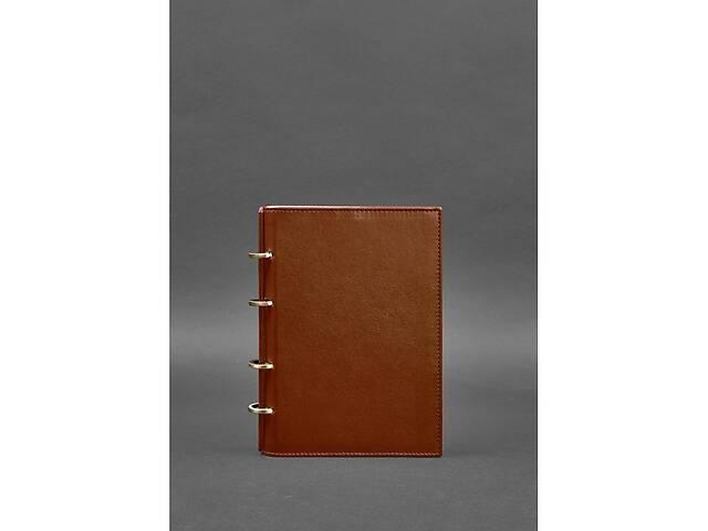 купить бу Кожаный блокнот на кольцах 9.0 с твердой коричневой обложкой BlnkntBN-SB-9-hard-k в Киеве