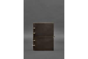 Кожаный блокнот на кольцах (софт-бук) 9.0 в мягкой коричневой обложке BlnkntBN-SB-9-soft-o
