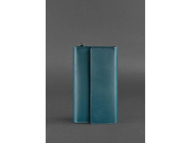 купить бу Кожаный женский клатч-органайзер (Тревел-кейс) 5.1 зеленый BlnkntBN-TK-5-1-malachite в Киеве