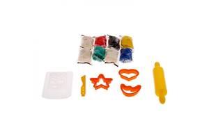 Набор для детской лепки Genio Kids Магазин печенья, с аксессуарами, 8 пакетиков с тестом-пластилином