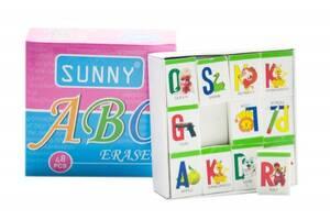 Набор стирательных резинок Английский алфавит, 48 штук Г-00181