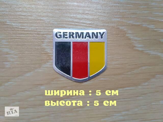 продам Наклейка на авто Флаг Германии алюминиевая бу в Борисполе
