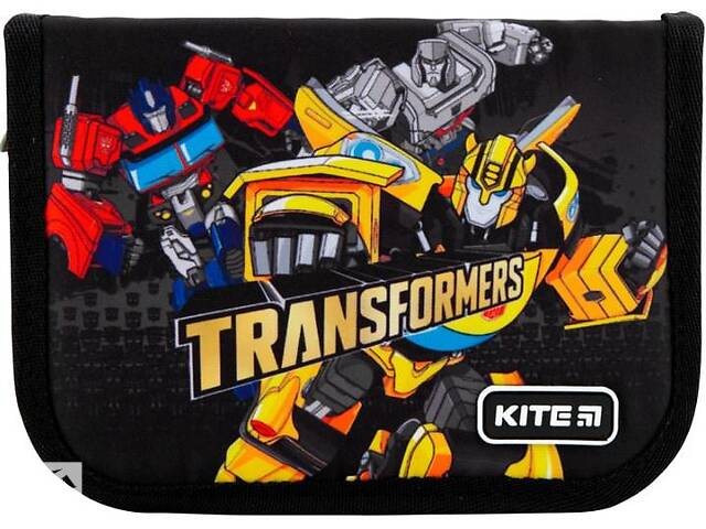 купить бу Школьный пенал Kite Education Transformers без наполнения, черный в Киеве