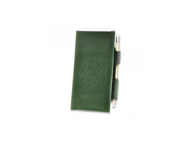 продам Женский кожаный зеленый Тревел-кейс 3.0 с мандалой BlnkntBN-TK-3-iz-man бу в Киеве