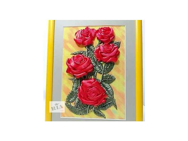 продам Картина Вышивка атласными лентами бу в Харькове
