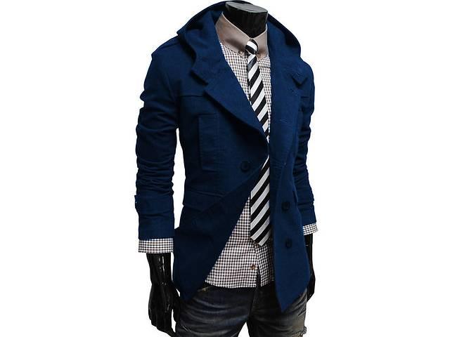 Кашемировое пальто тёмно-синего цвета- объявление о продаже  в Черкассах
