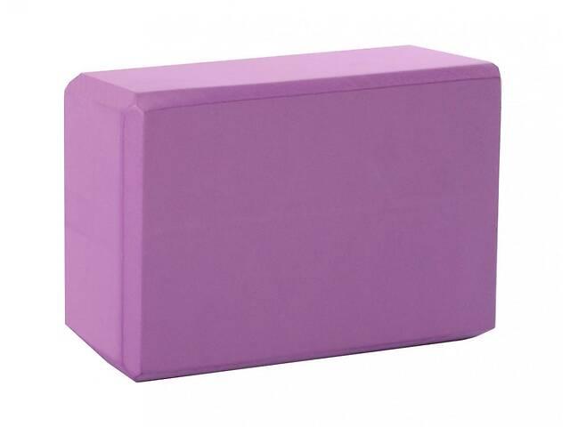 купить бу Блок для йоги Metr+ 23х15,5х7,5 см., фиолетовый в Киеве