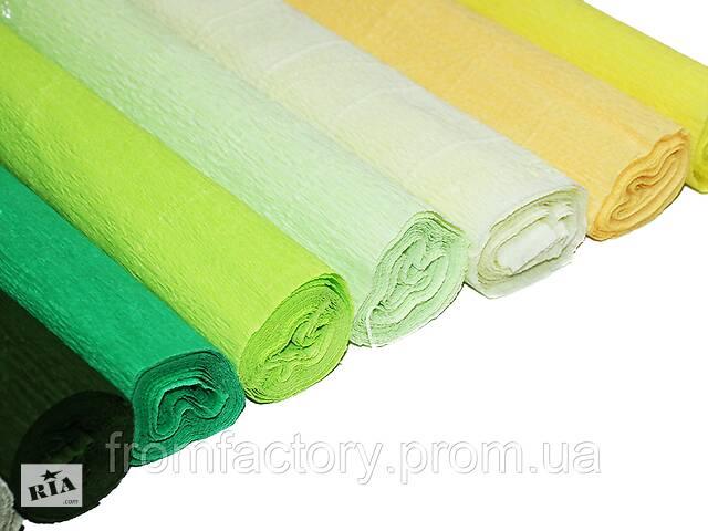 Бумага Гофрированная (2.5 м/50см/0.54мм) набор всех цветов 29шт.- объявление о продаже  в Харькове