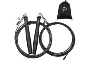 Cкакалка скоростная на подшипниках профессиональная для кроссфита WCG SPORT Pro стальным жгутом (длина 2.8 м)
