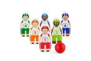 Детская развивающая игра Viga Toys Боулинг, 6 кегль