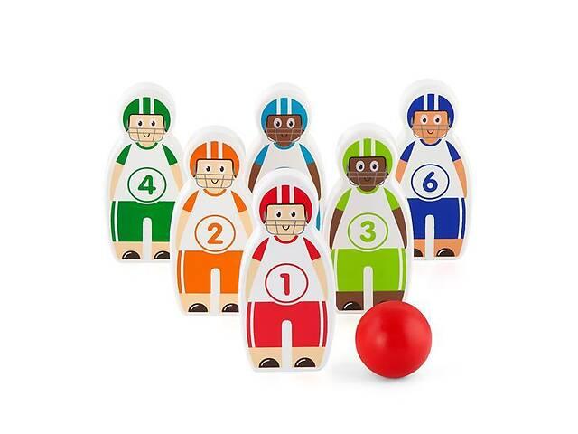 продам Детская развивающая игра Viga Toys Боулинг, 6 кегль бу в Киеве