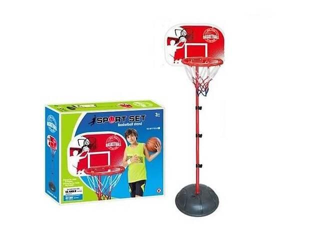 купить бу Детское баскетбольное кольцо на стойке MY 1703 B (высота 120-150 см) с щитом и сеткой в комплекте насос в Одессе