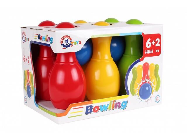 купить бу Детский набор для игры в боулинг ТехноК (4692)  Спортивные подарки для детей в Киеве