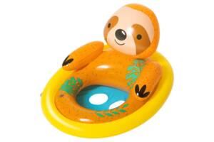 """Детский надувной круг-плотик со спинкой и бортиками Bestway """"Ленивец"""", 81х56 см, разноцветный"""