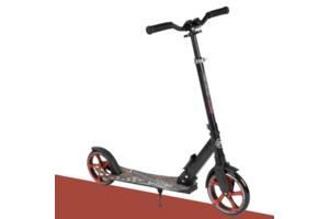 Детский самокат двухколесный от 5 лет до 100 кг с амортизатором Best Scooter Большие колеса (88914)