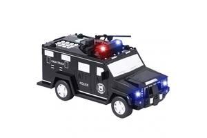 Дитячий сейф скарбничка з кодом і відбитком пальця у вигляді поліцейської машини Cash Truck 2106/7623 Чорна (par_2106 7623)
