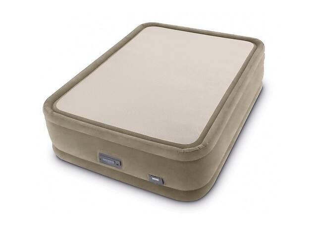 купить бу Двуспальная надувная кровать со встроенным электрическим насосом Intex Prime Comfort 64478 (152-203-51 см) в Львове