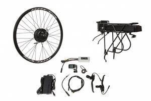"""Электро-вело-набор на багажник. Мотор-колесо 26"""" задн. редуктор. 500Вт 48В 12.5Ач 20A контр,ручка"""