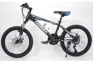 Гірський підлітковий велосипед S200 HAMMER Колеса 20 дюймів Рама 12 Японія Shimano