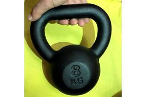 Гиря для фитнеса 8 кг KingSport, гиря для кроссфита, гиря чугунная 8 кг