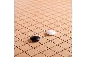 Камни для игры Го из фаянса поштучно белый + черный